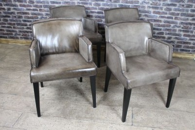 vintage style leather armchairs