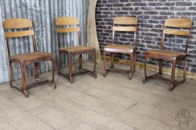 vintage style school chairs
