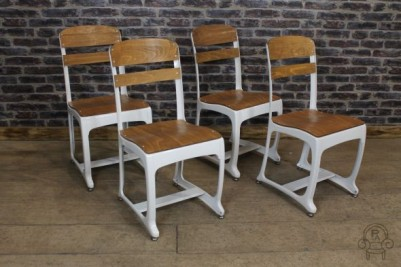 vintage style school chair