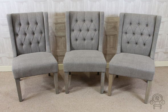 Button Back Chair French Style Dining Chairs