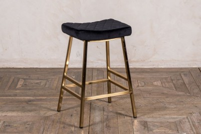 black and gold stool