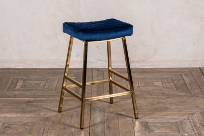blue and gold bar stool