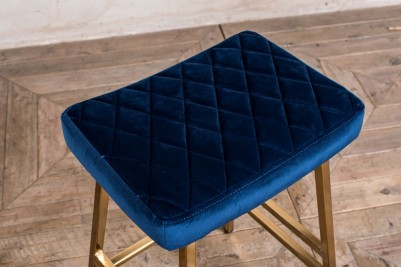 blue velvet bar stools