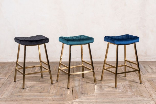 Christie Velvet Breakfast Bar Stool