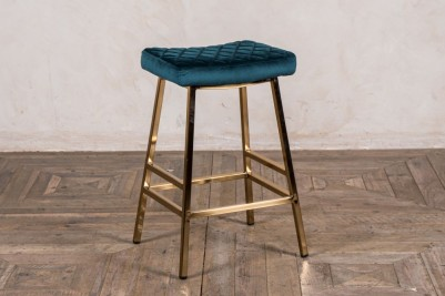 green and gold bar stool