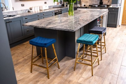 quilted velvet breakfast bar stools