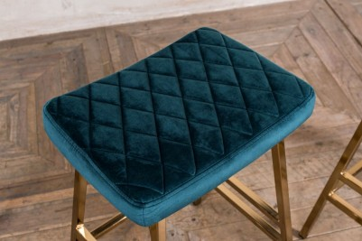 teal velvet bar stools