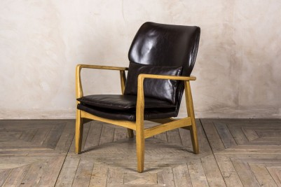 brown retro style armchair