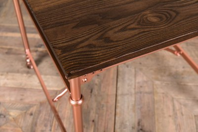 bright copper base table