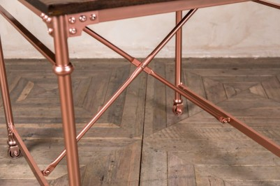 bright copper dining table