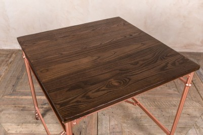 square copper table