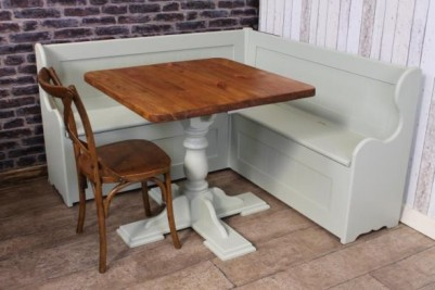 painted pine corner bench and table