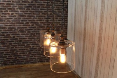 industrial style glass lights