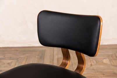 black wooden chair with legs