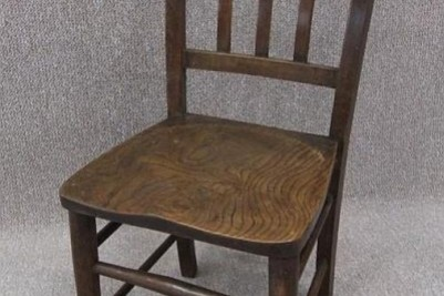 Dark beech & elm chapel chair