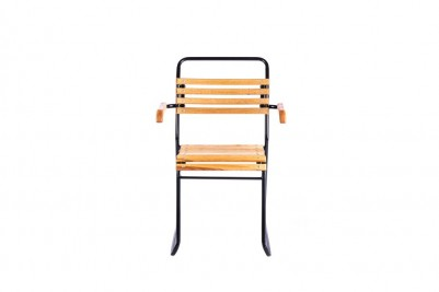 outdoor stacking chair with arms