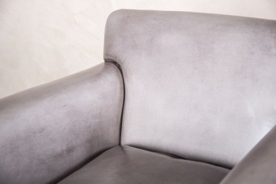 leather armchair in grey