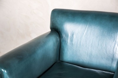 square armchair in blue