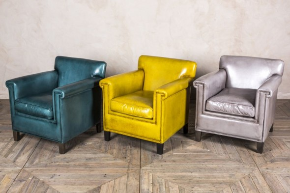 Derry Square Leather Armchair Range