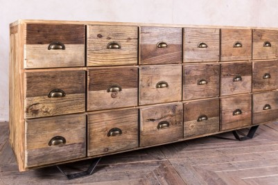 wooden multi drawer sideboard