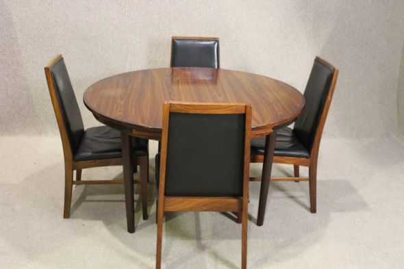 Dyrlund Flip Flap Rosewood Dining Table