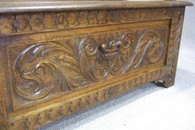 Solid Oak antique monks bench