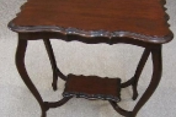 Edwardian Mahogany Window Table