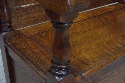 Edwardian Oak Monks bench