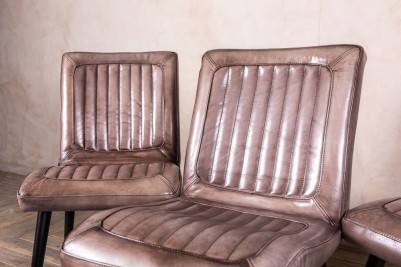ribbed leather desk chairs