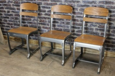 industrial style gunmetal chairs