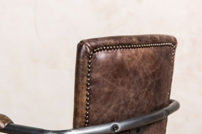 brown leather office chair