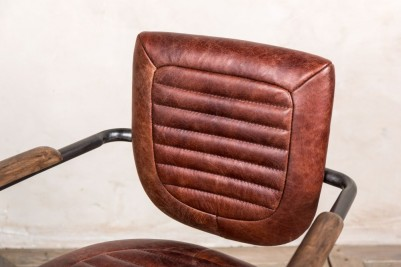 chestnut leather desk chair