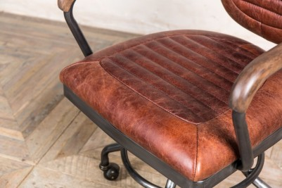 chestnut leather office chair