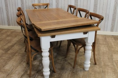 farmhouse extending oak dining table