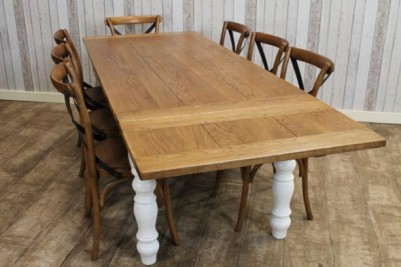 farmhouse oak extending table