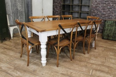handmade extending oak table