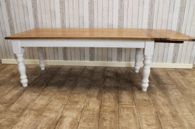handmade oak extending table