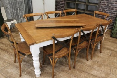 oak farmhouse extending table