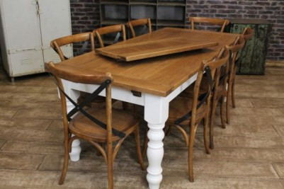 oak farmhouse kitchen table