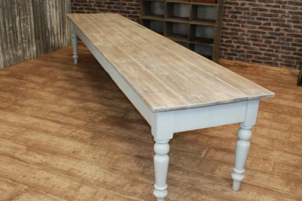 Large Farmhouse Table Antique Edwardian Pine Dining Table Very Long