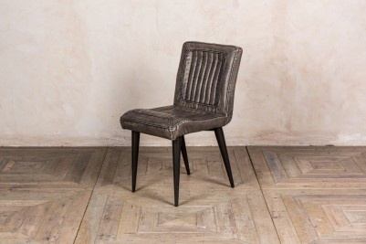 grey faux leather dining chair