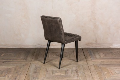 grey leather look dining chair