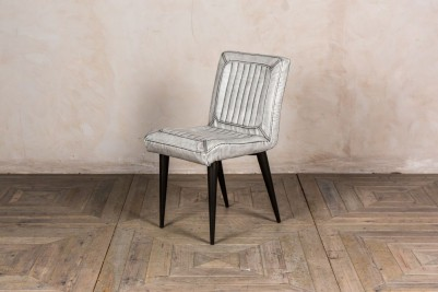 white modern dining chair