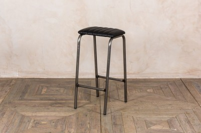 faux black leather counter stool
