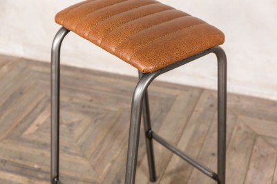 faux tan leather bar stool