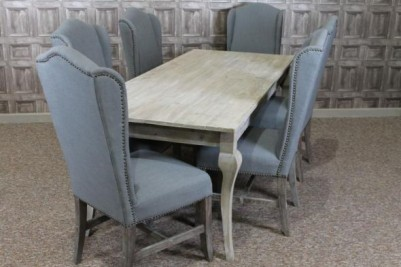 limed dining table