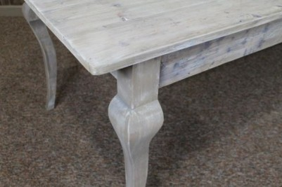 limed pine dining table