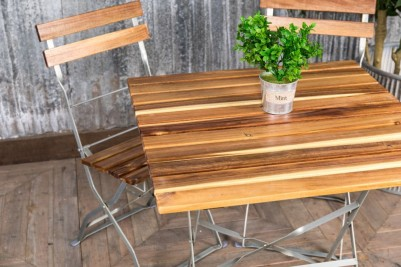 galvanised dining tables