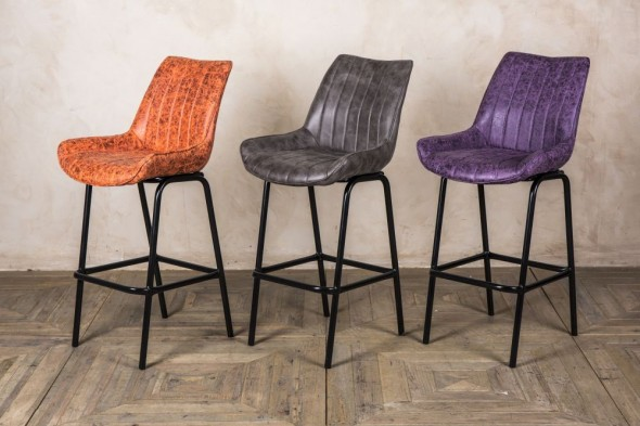 Franklin Faux Suede Bar Stools