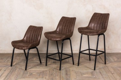 ribbed seat bar stools